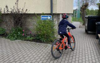 Fahrrad-Ausbildung, Montessorischule Beuren