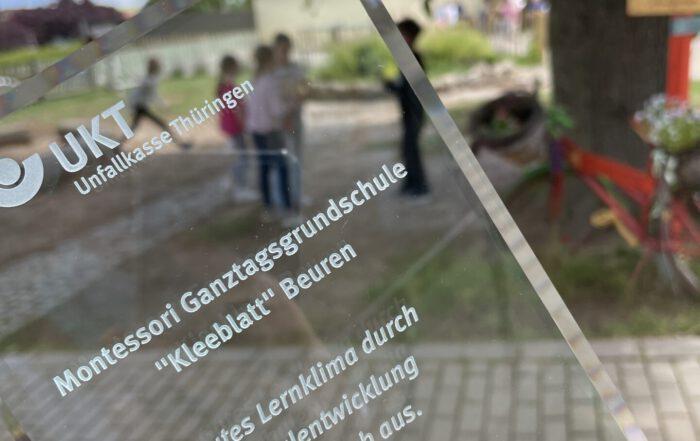 Schulentwicklungspreis der Unfallkasse Thüringen für die Montessorischule Beuren